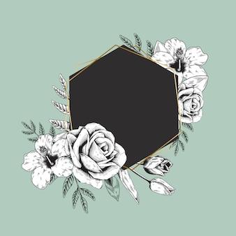 花のロゴのバナー