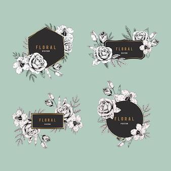 花のバッジセット