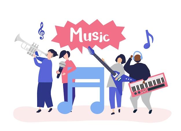 Группа, исполняющая живую музыку