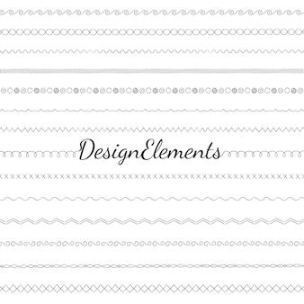 仕切り線デザイン要素ベクトルコレクション