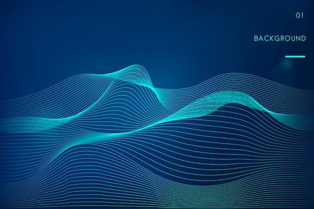 データ可視化動的波パターンベクトル