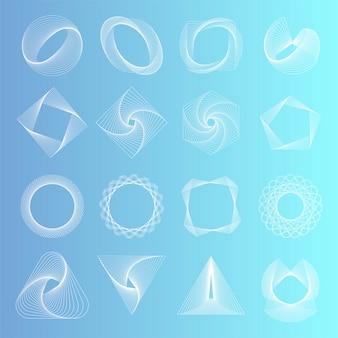 抽象的な幾何学的要素設定ベクトル