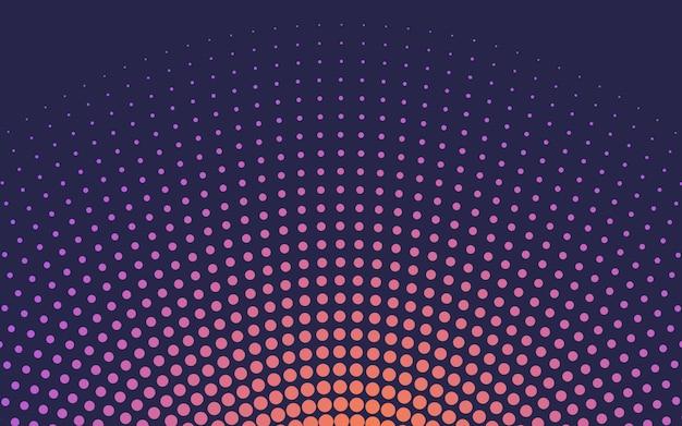 オレンジグラデーションハーフトーン背景ベクトル