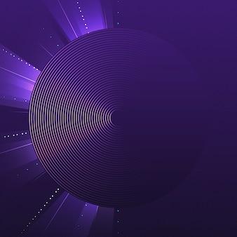 パープルサークルパターン背景ベクトル