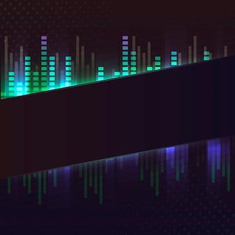 Пустой зеленый баннер неоновая вывеска вектор