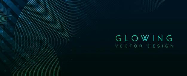 Зеленый светящийся неоновый фон вектор