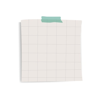 空白の正方形グリッドリマインダー紙メモベクトル
