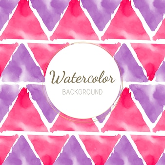 パステルカラーの水彩背景ベクトル