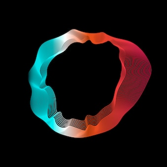 カラフルな抽象的な輪郭線コレクション