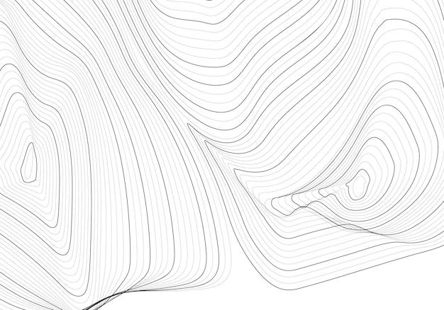モノクロの抽象的な輪郭線図
