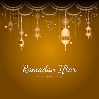 Рамадан карты иллюстрация
