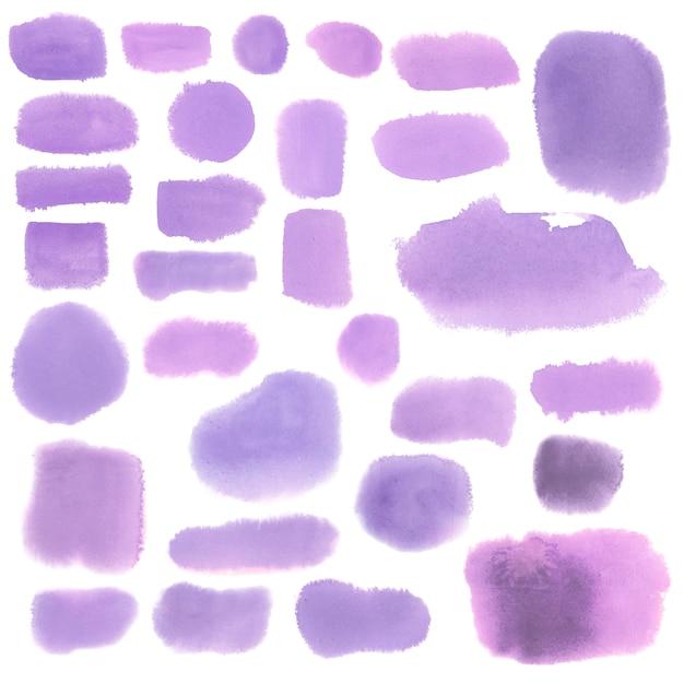 Фиолетовый стиль акварельный баннер вектор