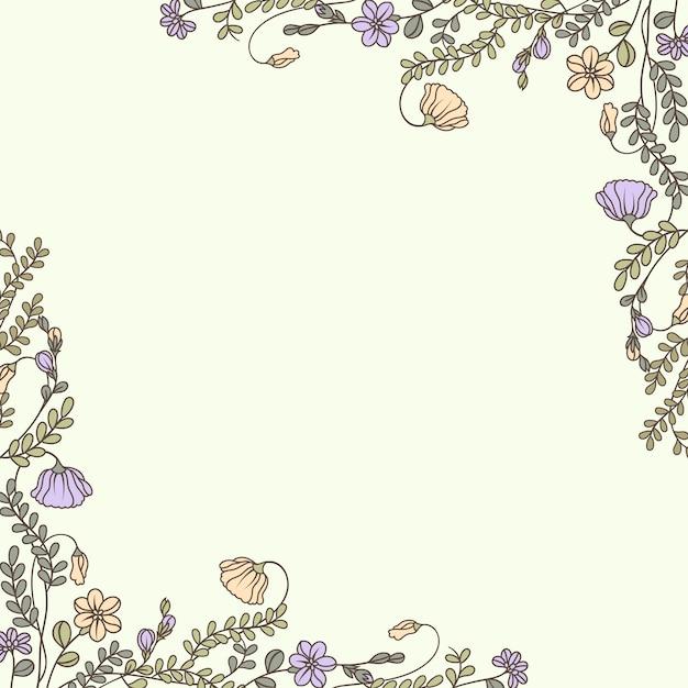 植物の花のモックアップイラストレーション