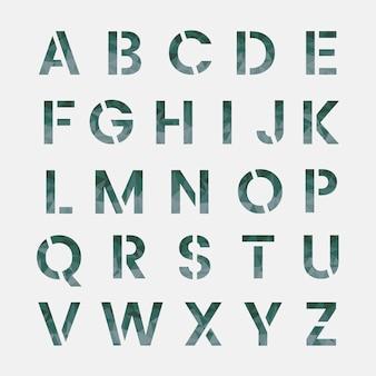 英語のアルファベット大文字ベクトル