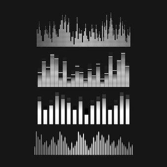 音波イコライザーベクターデザインセット