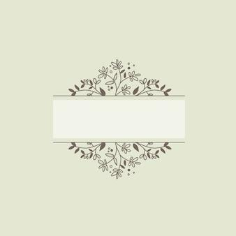 空白の植物フレームデザイン要素ベクトル