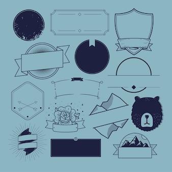 アイコンシンボルバッジロゴコレクションコンセプト