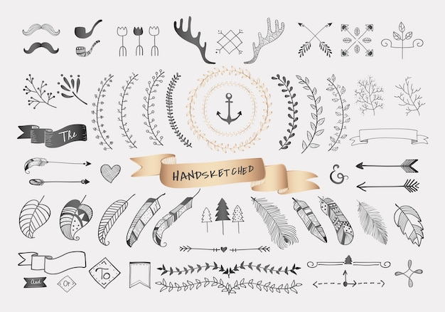 Ручной обращается дизайн путешествия