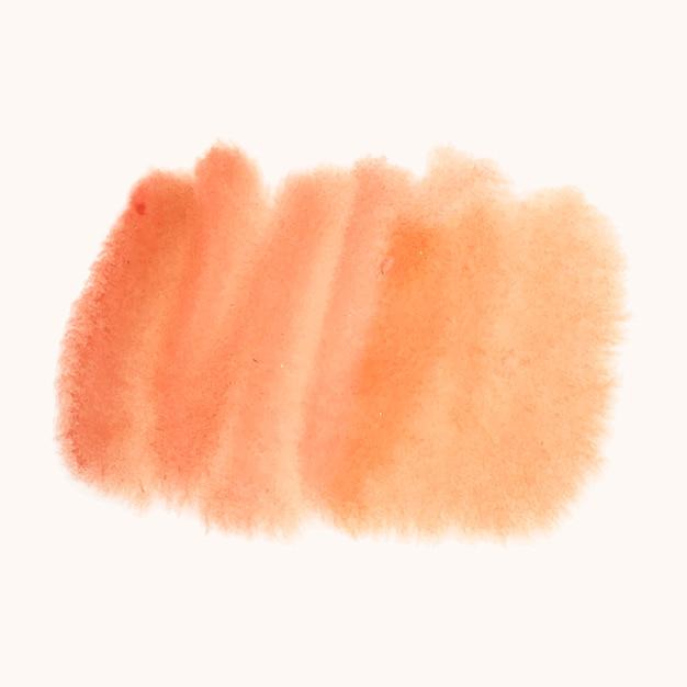 オレンジ色の水彩風バナーベクトル