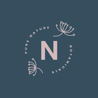 純粋な自然のロゴデザインベクトル