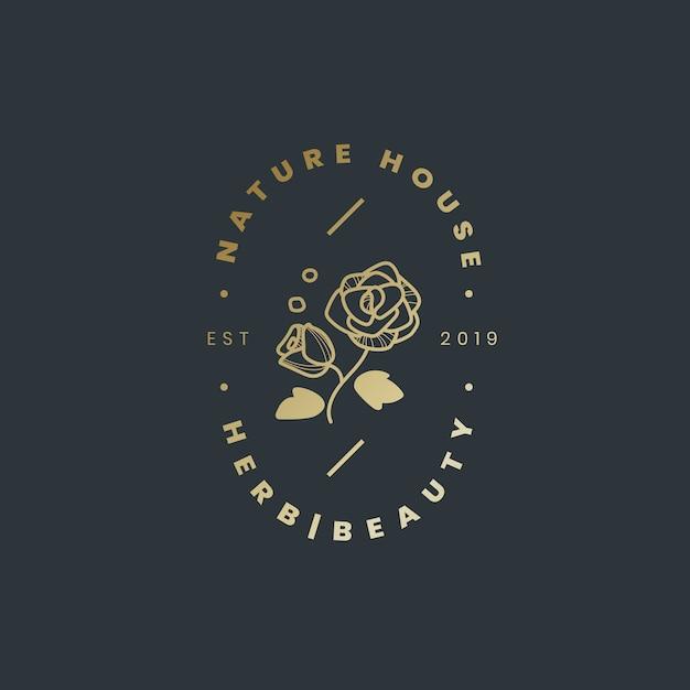 ネイチャーハウスのロゴデザインベクトル
