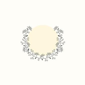 Ботанический каркас элемент дизайна вектор