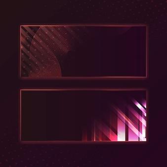 空白の赤い長方形バナー看板ベクトル
