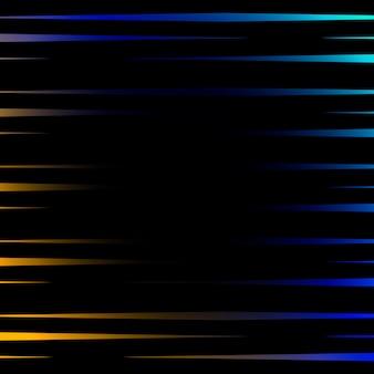 黒の背景に鮮やかな線