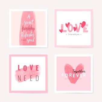 バレンタインデーのベクトルデザインコンセプト