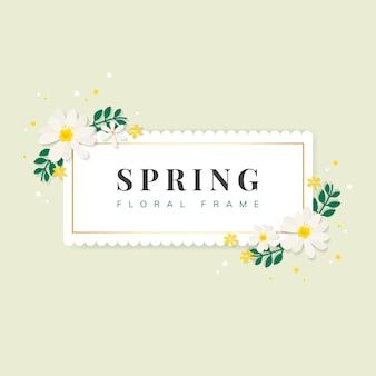 春の花のフレーム図