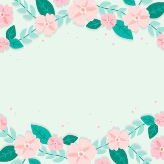 春花ボーダーイラストレーション