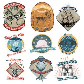 Коллекция старинных логотипов