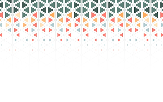 カラフルな三角形のパターン図