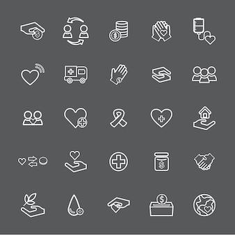 Векторная иллюстрация пользовательского интерфейса для благотворительности