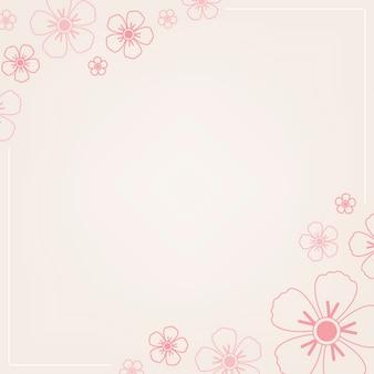 ピンクの花柄