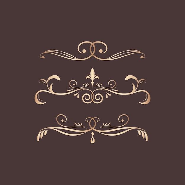 Винтажные вихревые элементы дизайна