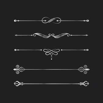 ビンテージ渦巻き模様のデザイン要素