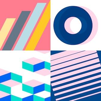 Набор разноцветных швейцарских графических иллюстраций