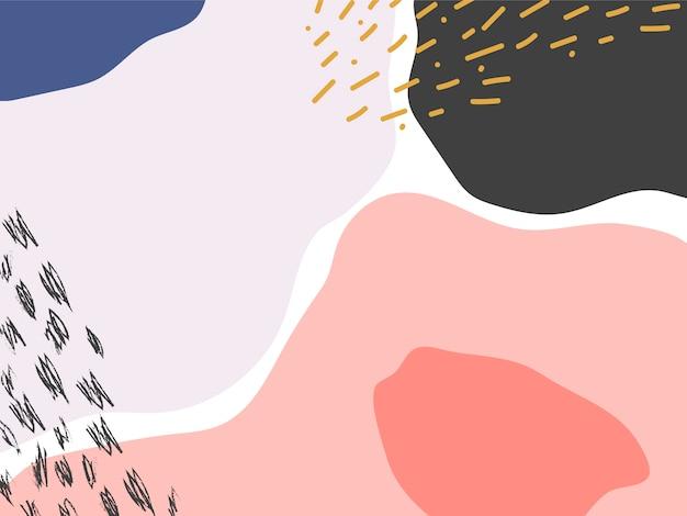 カラフルなメンフィスデザインの背景