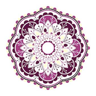 紫色のヒンズー教のマンダラ