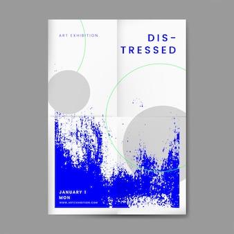 抽象的な苦しめられたデザインポスター