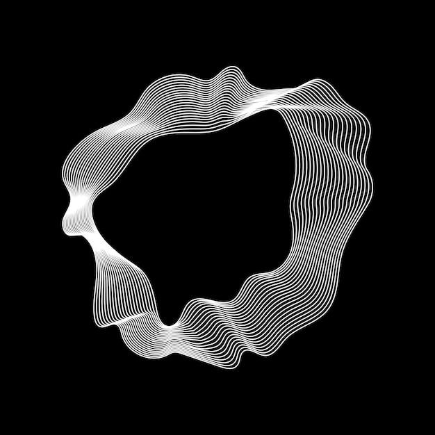 モノクロの抽象的な輪郭線コレクション