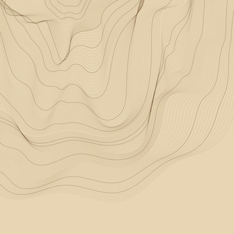 茶色の抽象的な輪郭線図