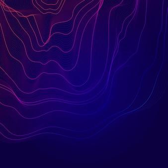 カラフルな抽象的な輪郭線図