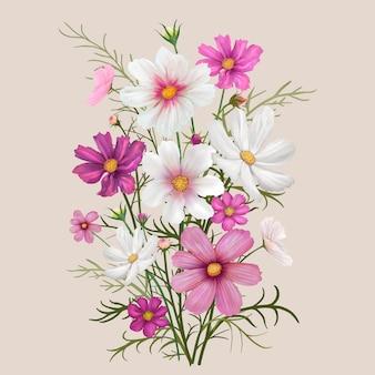カラフルなデイジーの花