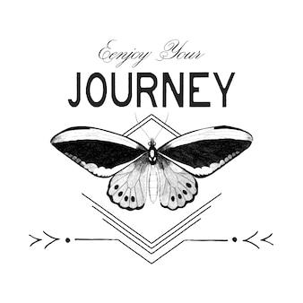 Наслаждайтесь своим путешествием дизайн логотипа вектор