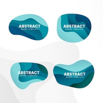 抽象的なバッジデザインベクトルを設定