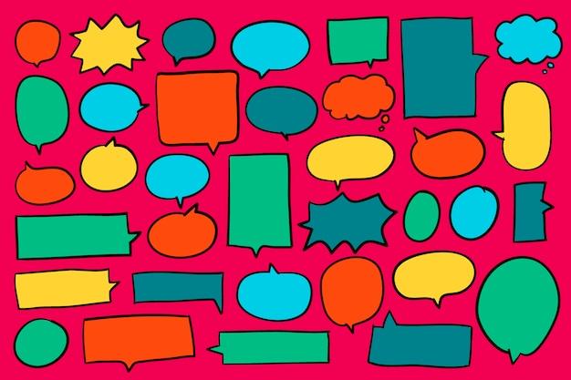 Коллекция красочных речи пузыри вектора