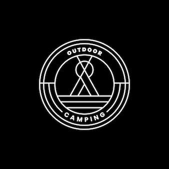Шаблон логотипа для приключений