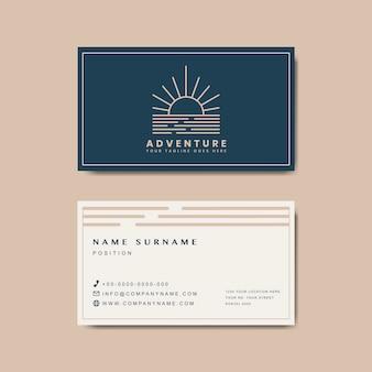 Премиум макет дизайна визитной карточки